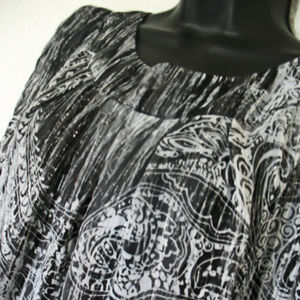 Women's DRESS BARN Abstract with tie front, tunic